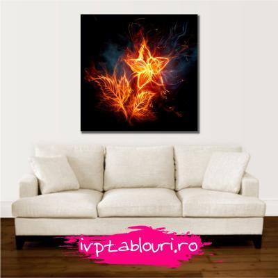 tablou canvas abstract cu decor